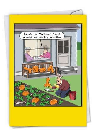 Funny Retirement Printed Card by Tim Whyatt from NobleWorksCards.com - Rude Vegetables