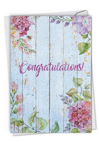 Stylish Congratulations Card By NobleWorks Inc From NobleWorksCards.com - Blooming Driftwood