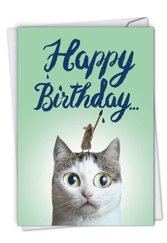 Creative Birthday Printed Card By NobleWorks Inc From NobleWorksCards.com - Cat-Sent Greetings
