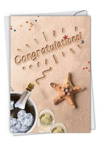 Creative Congratulations Printed Greeting Card By NobleWorks Inc From NobleWorksCards.com - Beach Notes