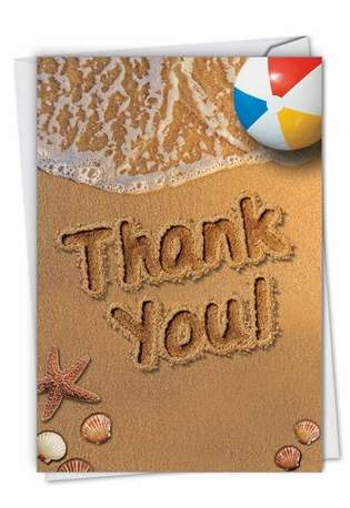 Stylish Thank You Card By NobleWorks Inc From NobleWorksCards.com - Beach Notes