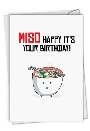 Birthday Puns-Miso: Creative Birthday Printed Card