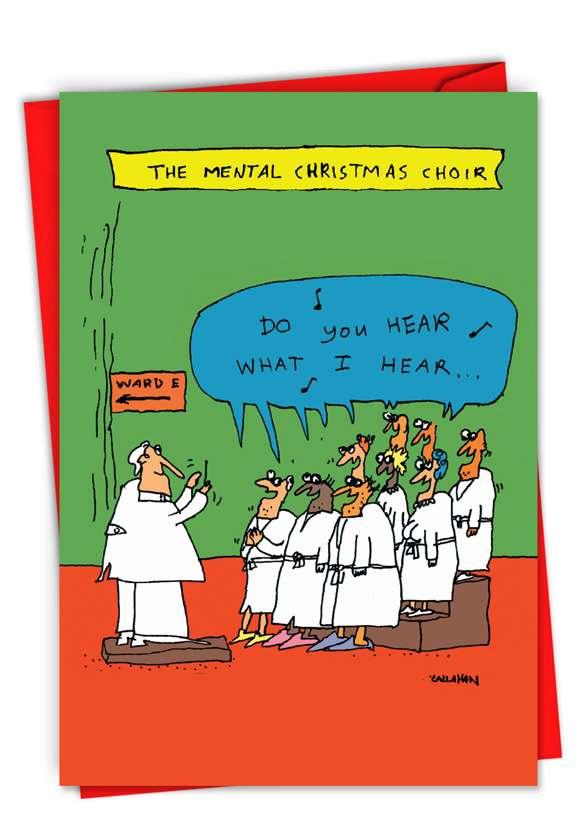 Funny Merry Christmas Card By John Callahan From NobleWorksCards.com - John Callahan's Insane Choir