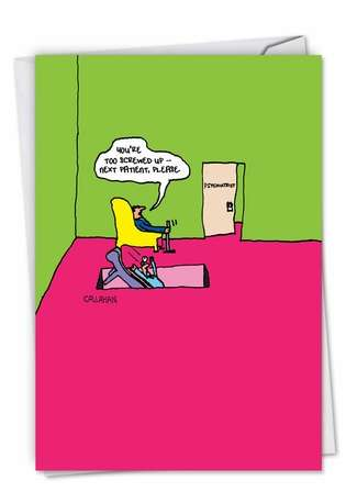 Humorous All Occasions Paper Card By John Callahan From NobleWorksCards.com - John Callahan's Down The Hatch