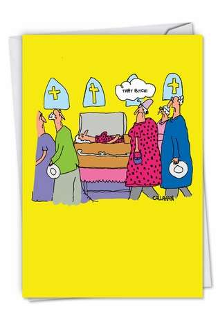 Funny Birthday Card By John Callahan From NobleWorksCards.com - John Callahan's That B Dress