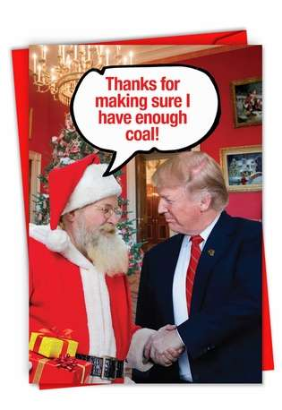 Hysterical Merry Christmas Greeting Card From NobleWorksCards.com - Enough Coal