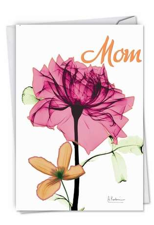 Stylish Mother's Day Paper Card By Albert Koetsier From NobleWorksCards.com - Inspiring Floral Mix
