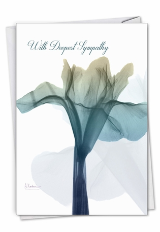 Creative Sympathy Printed Card By Albert Koetsier From NobleWorksCards.com - Blooming Expressions