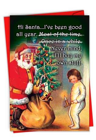 Hysterical Merry Christmas Greeting Card From NobleWorksCards.com - Buy My Own Stuff
