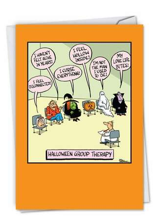 Halloween Group Therapy: Hilarious Halloween Printed Card