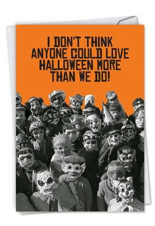 Funny Halloween Paper Card From NobleWorksCards.com - Loved By Dentists