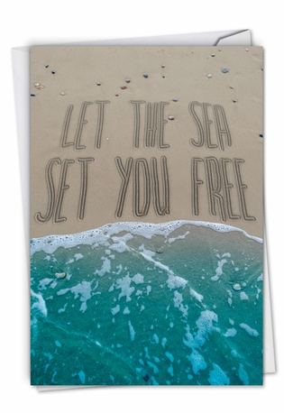 Stylish All Occasions Paper Card From NobleWorksCards.com - Life's a Beach