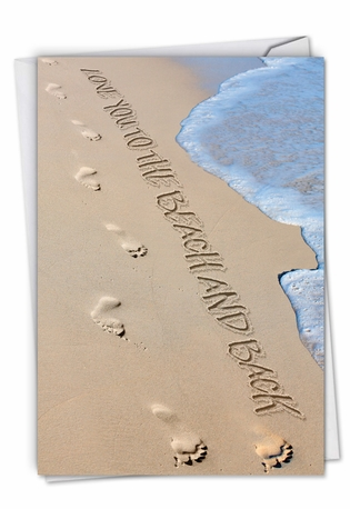 Creative All Occasions Printed Greeting Card From NobleWorksCards.com - Life's a Beach