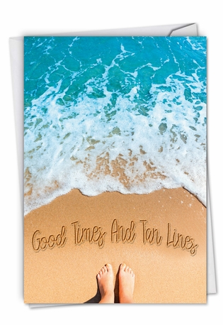 Life's a Beach: Creative All Occasions Blank Greeting Card