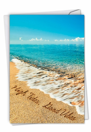 Stylish All Occasions Paper Greeting Card From NobleWorksCards.com - Life's a Beach