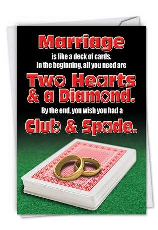 Humorous Anniversary Card From NobleWorksCards.com - Marriage Deck