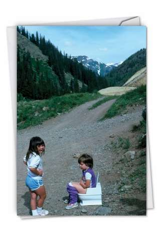Funny Birthday Card By Awkward Family Photos From NobleWorksCards.com - Potty Path
