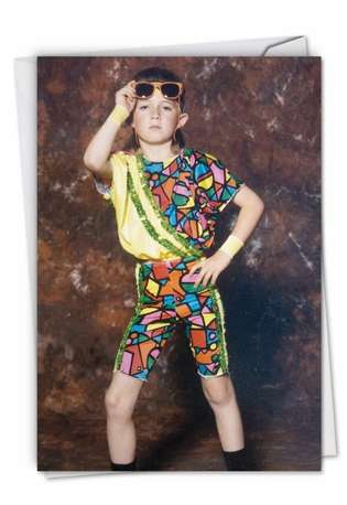 Hilarious Birthday Greeting Card By Awkward Family Photos From NobleWorksCards.com - Fashion Kid