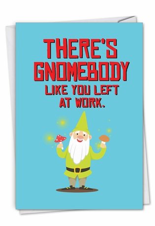 Stylish Retirement Card From NobleWorksCards.com - Friendly Garden Gnomes