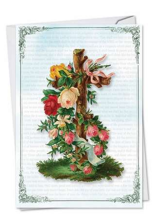 Stylish Sympathy Paper Card from NobleWorksCards.com - Cross