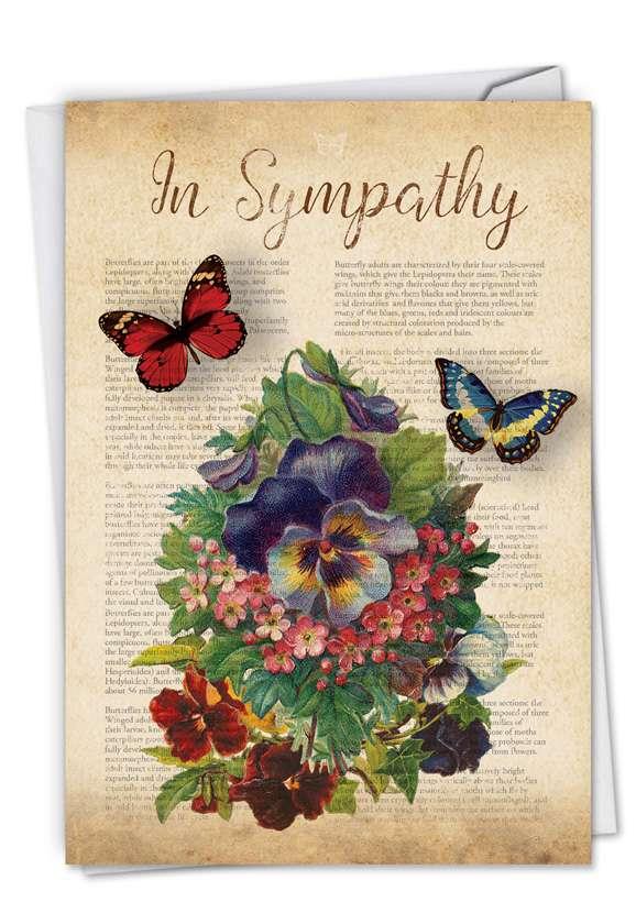 Creative Sympathy Printed Greeting Card from NobleWorksCards.com - Fluttering Words