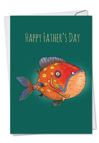 Creative Father's Day Greeting Card by Brisco Brands from NobleWorksCards.com - Fishtoons