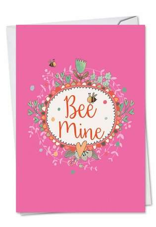 Creative Valentine's Day Paper Greeting Card from NobleWorksCards.com - Let It Bee