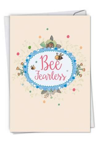 Creative Graduation Paper Card from NobleWorksCards.com - Let It Bee
