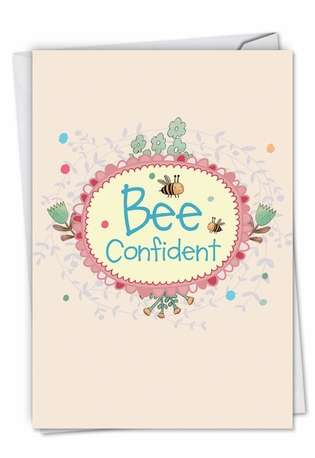 Stylish Graduation Greeting Card from NobleWorksCards.com - Let It Bee