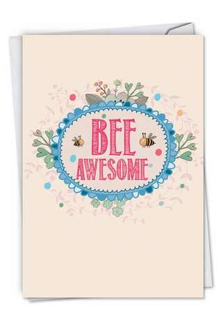 Creative Graduation Printed Card from NobleWorksCards.com - Let It Bee