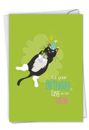Creative Birthday Printed Greeting Card by Jennifer Lange from NobleWorksCards.com - Catty