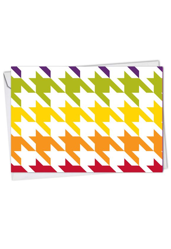 Stylish Thank You Greeting Card from NobleWorksCards.com - Nothing But A Houndstooth