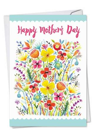 Stylish Mother's Day Printed Card by Debbie Tomassi from NobleWorksCards.com - Garden Delights