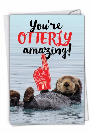 Funny Thank You Card From NobleWorksCards.com - Otterly Awesome