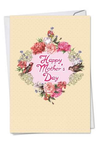 Birds And Blossoms: Stylish Mother's Day Paper Greeting Card