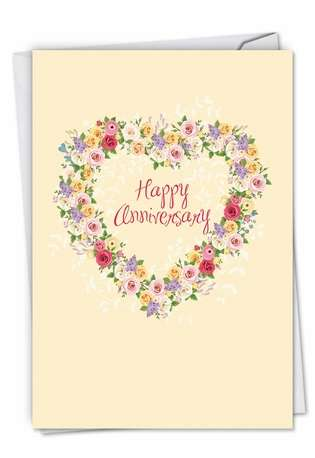 Creative Anniversary Paper Greeting Card from NobleWorksCards.com - Heartfelt Thanks