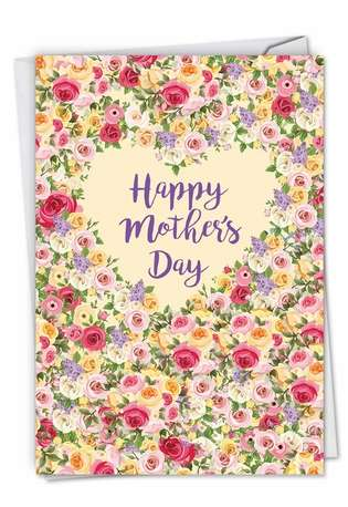 Heartfelt Thanks: Stylish Mother's Day Printed Greeting Card