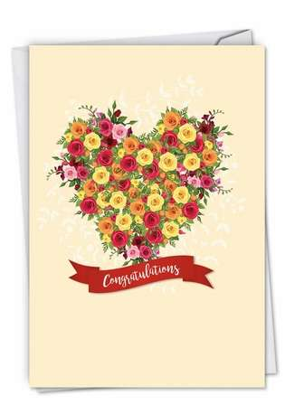 Heartfelt Thanks: Stylish Wedding Greeting Card