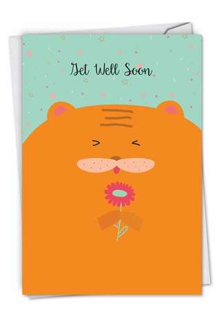 Stylish Get Well Greeting Card from NobleWorksCards.com - Fur You