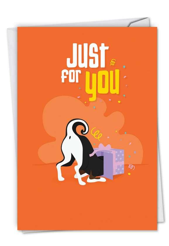 Stylish Birthday Printed Card by Jennifer Lange from NobleWorksCards.com - Doggone Awesome Notes