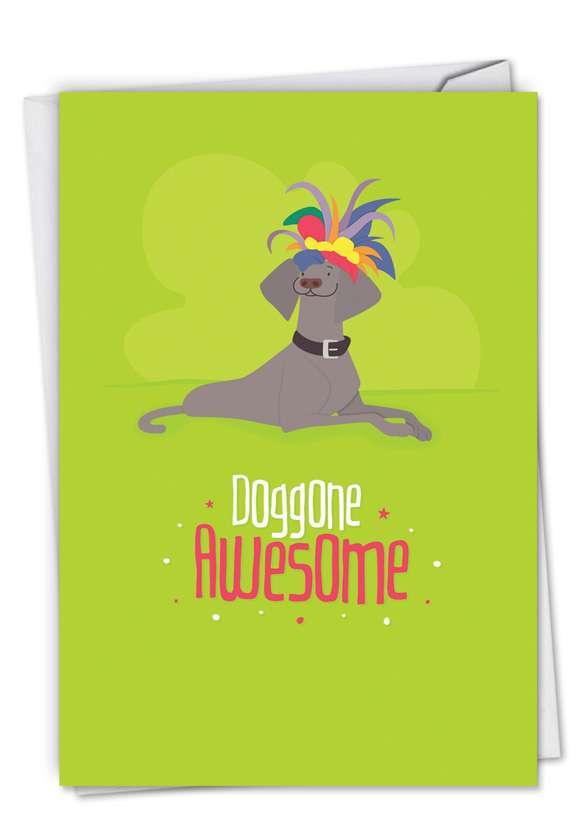 Stylish Congratulations Greeting Card by Jennifer Lange from NobleWorksCards.com - Doggone Awesome Notes