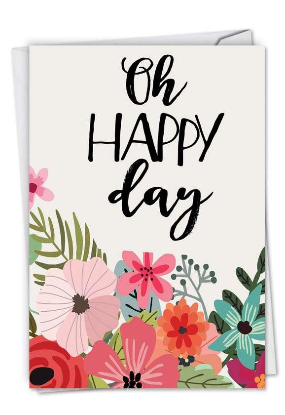 Stylish Birthday Paper Card by Batya Sagy from NobleWorksCards.com - Optimisms