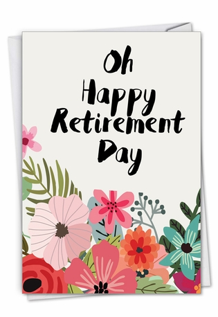 Creative Retirement Printed Card By Batya Sagy From NobleWorksCards.com - Optimisms