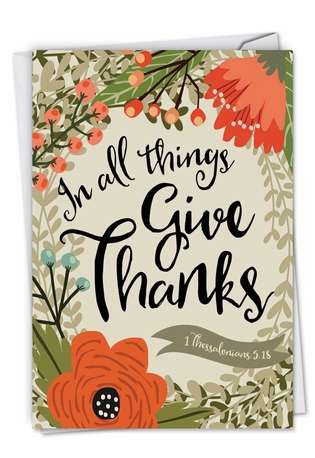 Creative Thank You Printed Card by Batya Sagy from NobleWorksCards.com - Blessings