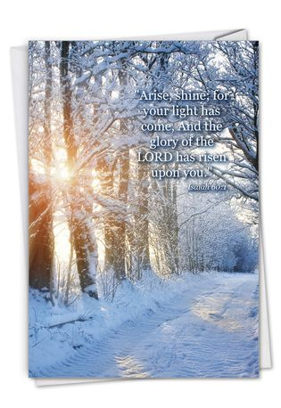 Stylish Congratulations Card From NobleWorksCards.com - Winter Sunrise - Isaiah 60:1