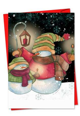 Creative Seasons Greetings Paper Card by Carol Robinson from NobleWorksCards.com - Snow Pals