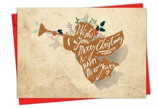Stylish Christmas Printed Card from NobleWorksCards.com - Holiday Knockout