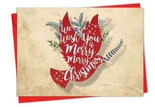 Creative Christmas Paper Greeting Card from NobleWorksCards.com - Holiday Knockout