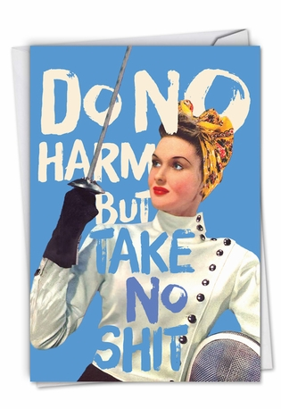 Hysterical All Occasions Printed Greeting Card By Offensive+Delightful From NobleWorksCards.com - Do No Harm