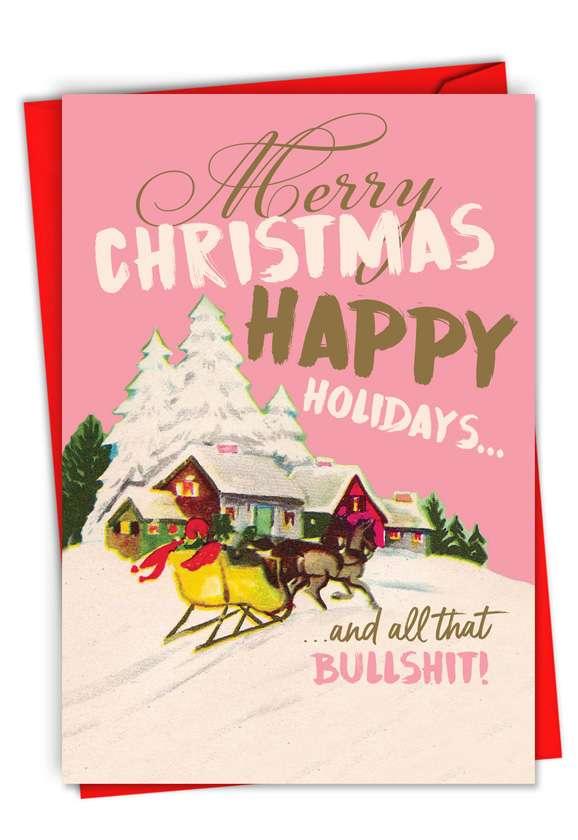 Season's Bullsh*t: Funny Merry Christmas Card
